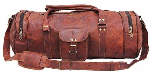 """Indian handmadecraft Vintage hombres de 22""""Leather–Bolsa de viaje de la noche grande, marrón (Marrón) - 10427616"""
