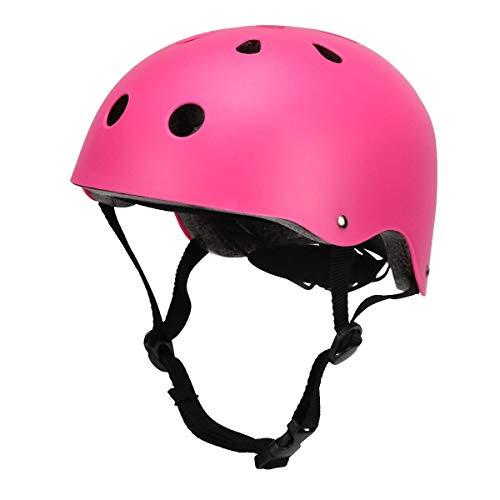Kids Bike Helmet,Toddler Skateboard Helmet Adjustable Impact Resistance Ventilation Multi-Sport Helmet,Youth Sports Safety Protective Helme for BMX Bicycle Skate Scooter Bike (Matte Pink)