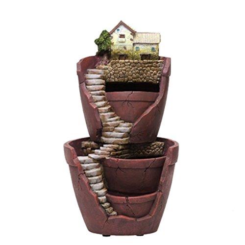 Pot de fleurs pour plantes succulentes - Mini taille créative - Jardin féérique à suspendre - Design de jardin avec Sweet House (W)