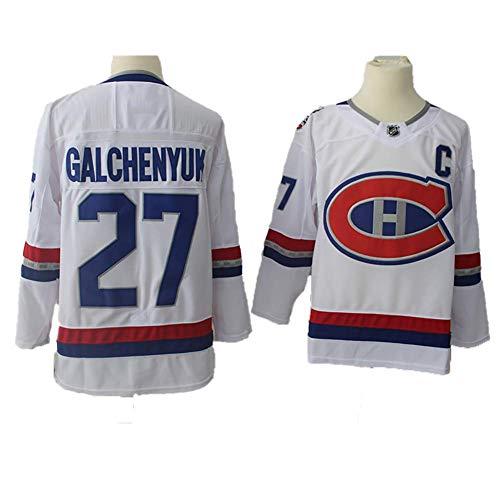 Yajun Alex Galchenyuk#27 Montreal Canadiens Eishockey Trikots Jersey NHL Herren Sweatshirts Atmungsaktiv T-Shirt Bekleidung,White,M