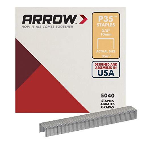 Arrow Fastener JT21//T27 Staples 8 mm 5//16in Boîte de 1000 agrafes fixation