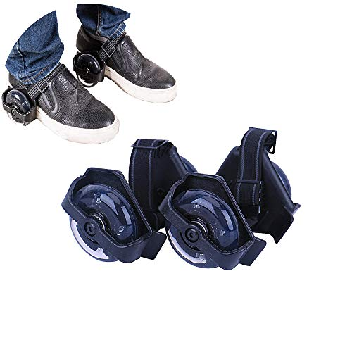 New Improved Material Bright Blue Light up Wheel Heel Skates Roller Adjustable Flashing Shoe Razor Jetts