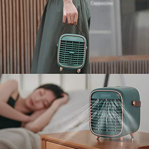 HLSP Ventilador de Aire Acondicionado Personal Retro portátil, Mini Enfriador de Aire/humidificador inalámbrico Recargable,diseñado para el hogar la Oficina el Dormitorio y el automóvil
