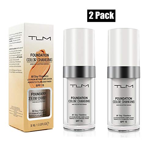 2 Pack TLM Flawless Colour Changing Foundation Makeup Review