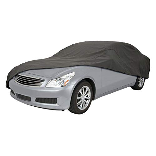"""Classic Accessories 10-014-261001-00 OverDrive PolyPro 3 Heavy Duty Full Size Sedan Car Cover,Charcoal,Sedans 191"""" - 210"""" L"""
