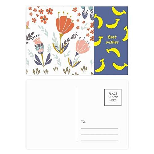 DIYthinker Oranje Poeder Bloem Plant Verf Banaan Postkaart Set Thanks Card Mailing Zijkant 20 stks 5.7 inch x 3.8 inch Multi kleuren