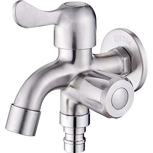 Doble Función Lavadora agua del grifo de acero inoxidable 304 de baño y cocina Grifos G1 / 2 Conectar bidet Accesorios, A