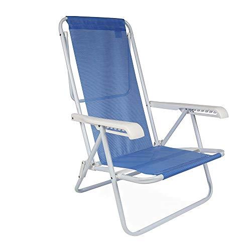 Mor 002255 - Cadeira Reclinável Mor, 8 Posições, Azul