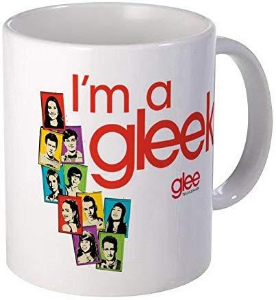 Taza de café con fotos de Glee – taza de café o té de cerámica de regalo de 5 onzas, 325 ml, color blanco