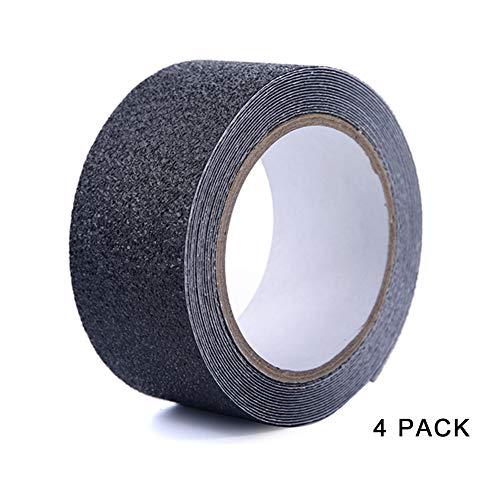 Antislip plakband (PVC), zwart, dikte 0,75 mm, slijtvaste slijtage voor traptreden (aanpasbaar) 5cmx5m/0.16x16.4ft