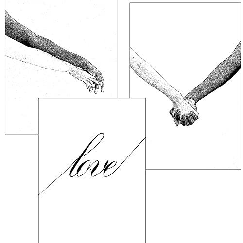 Láminas decorativas LOVE para enmarcar A4 decoración de pared Sin Marco Poster Papel Couché 300 gramos