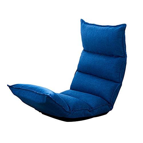 Feifei Chaise de Plancher Chaise de Jeu Pliable Chaise de Plancher réglable Fauteuil Paresseux canapé Balcon (Couleur : Bleu foncé)