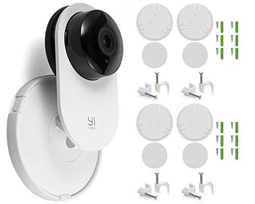 Soporte de montaje en pared para cámara de seguridad del hogar Yi de giro de 360 grados, kit de instalación completo con clips de...