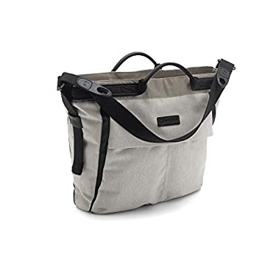 Bugaboo Changing Bag - Stone Melange - Convenient and Stylish Diaper Bag to Carry All of Your Essentials - Easily attaches to Bee5, Cameleon3, Fox and Buffalo Strollers, Stone Melange