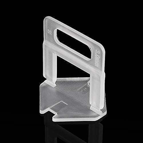 EsportsMJJ 100pcs 1/1.5/2/2.5/3mm Wegwerp Transparant Tegel afstandhouders Tegel Nivellering Systeem Clips Tiling Tools