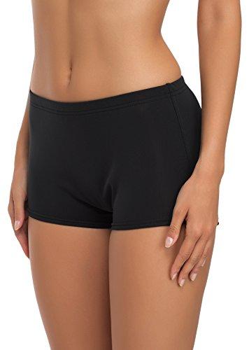 Merry Style Damen Badeshorts Bikinihose Modell L23L1 (Schwarz (9240), 42)