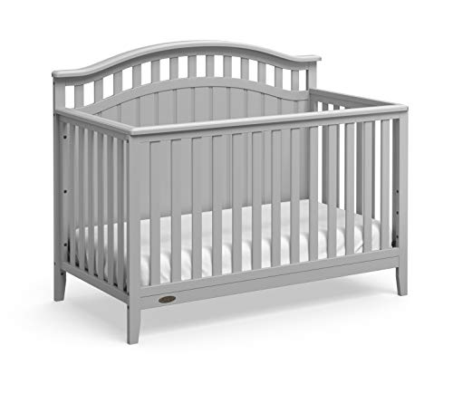 Graco Harper 4-in-1 Convertible Crib with Drawer (Pebble Grey) Easily Converts to Toddler Bed Day Bed or Full Bed,Three Position Adjustable Height Mattress,Some Assembly Required,Mattress Not Included