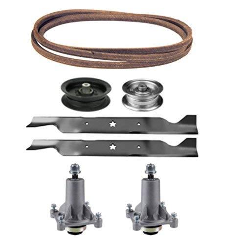 Sears Craftsman 46' Mower Deck Parts Rebuild Kit Spindle Assemblies Blades Belt Idler Pulleys