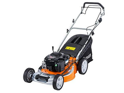 "Tiger TM5120SP 51cm (20"") Self Propelled Petrol Lawn Mower, Briggs & Stratton engine, Free Delivery, Steel Deck, 65L Grass Bag, 4 in 1 Collection System."