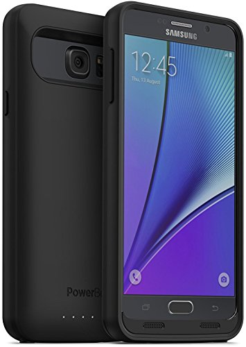 PowerBear Samsung Note 5 Battery Case [5000 mAh] Up to 165% More Battery