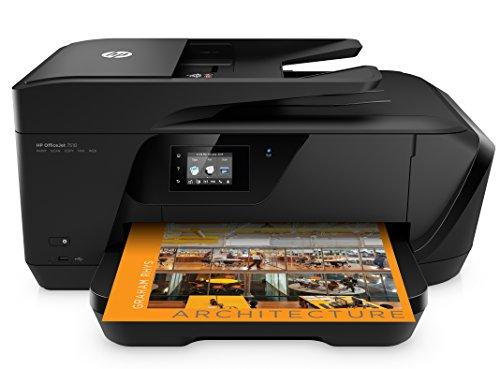 HP Officejet 7510 (G3J47A) A3 Multifunktionsdrucker (Drucker, A4 Scanner, Kopierer, Fax, 4800 x 1200 dpi, USB, WLAN, LAN) schwarz