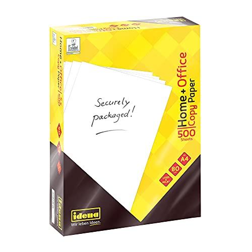 Idena 10548 - Idena Kopierpapier DIN A4, 500 Blatt, weiß, Papierqualität 80g/m², ideal für den täglichen Gebrauch, zum Drucken, Kopieren und Faxen, geeignet für Laser & Inkjet