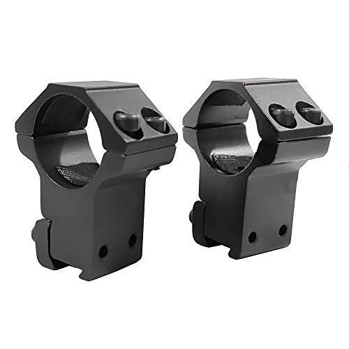 """FIRECLUB 1"""" or 30mm Dovetail Scope Mount Rings High or Low Profile for 11mm or 20mm Dovetail Picatinny Weaver (2 Pieces)"""