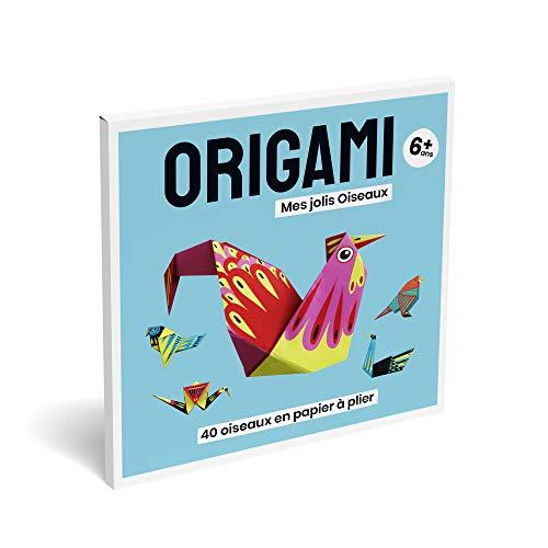 Kit de papel origami, juego educativo fácil. Actividades manuales para niños y niñas, para ocio creativo, para niños, cuaderno plegado, 40 pájaros, diseño de doble cara en color, a partir de 6 años.