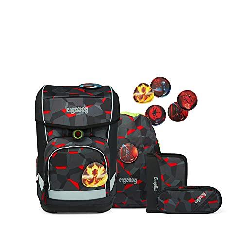 ergobag cubo light Set - ergonomischer Schulrucksack, extra leicht, Set 5-teilig, 780 g