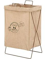 アイリスプラザ ランドリーバスケット 洗濯かご 横型 取っ手付き 幅37×奥行27×高さ60cm
