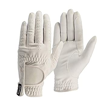 HORZE Eleanor Flex Fit Riding Gloves - White - 8