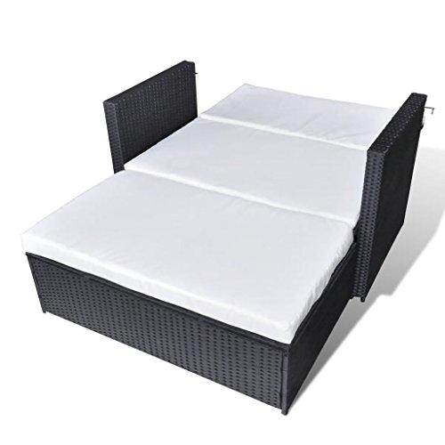 yorten 3-in-1 rotan loungeset polyrotan loungemeubelen loungegroep 123 x 117 x 66 cm (B x D x H) zwart