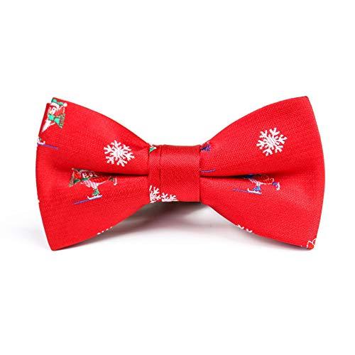 ZSRHH-Neckchiefs Halstücher Schnee-Farben-zusammenpassende Erwachsene Kinderfliege-justierbares strickendes rotes Guten Rutsch ins Neue Jahr