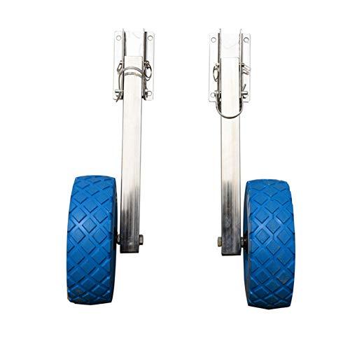 GYFHMY RVS Boot Transom lanceerwiel, 10''X3'' banden, Kayak Raft Trolley Accessoires Wielen, Perfect voor Opblaasbare Dinghy, Jacht, Boten