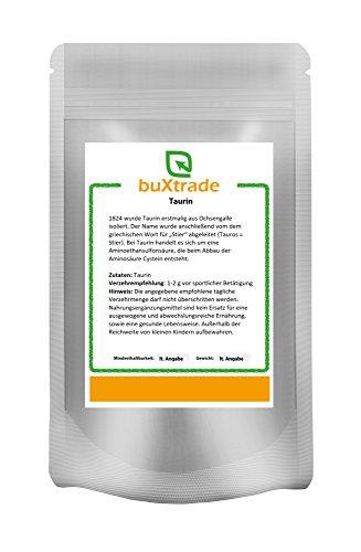 1 kg Taurin – rein/ohne Zusatzstoffe | Pulver | konditionell-essentielle Aminosäure | Nahrungsergänzungsmittel Sport | vegane Nutrition | Buxtrade