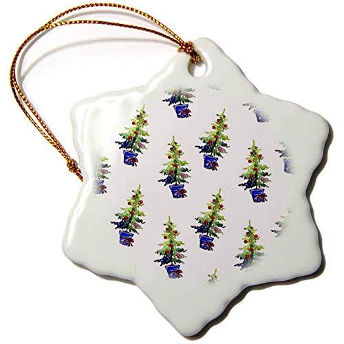 Kysd43Mill Anne Marie Baugh – Weihnachten – niedliches Bild von Aquarell getopften Weihnachtsbaum Muster Weihnachtsschmuck Porzellan Christbaumschmuck Ornamente