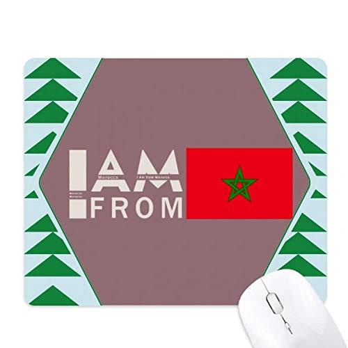 je suis du maroc tapis de souris green pine tree tapis en caoutchouc
