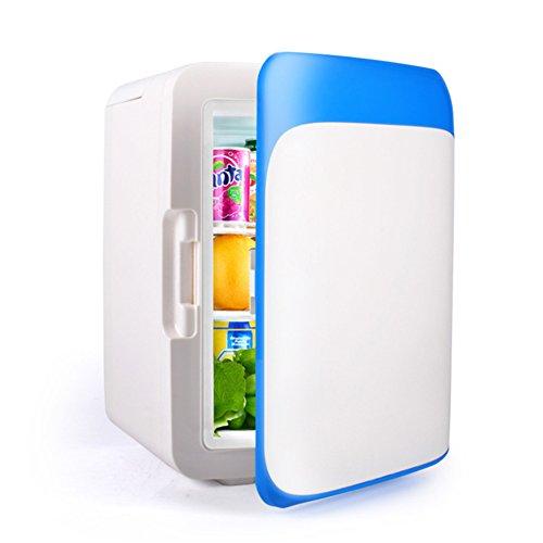 YUNJIE Nevera Pequeña,Compacto Y Portable Se Enfría Y Calienta Dormitorios Oficina Coche Dormitorio O Barco-azul10L