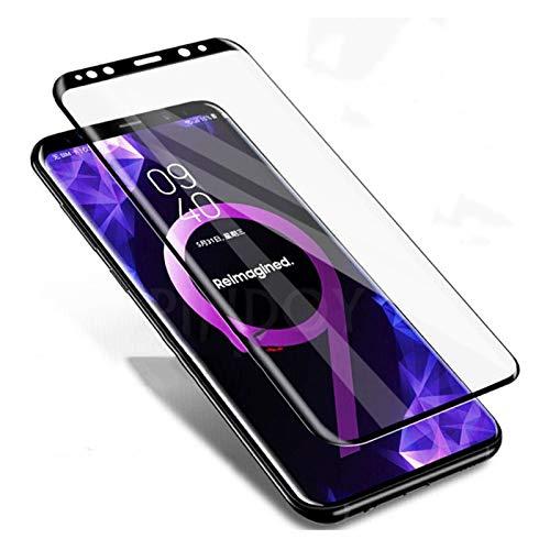 WTBH Protector de pantalla 9000D de cristal templado curvado, apto para Samsung Galaxy S8 S9 Plus Note 9 8, protector de pantalla, apto para Samsung S6 S7 Edge Protector
