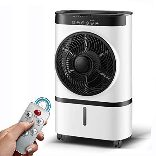 BDwantan Lüfter mit Fernbedienung, Geschwindigkeit Verdunstungskühler Luftbefeuchter Luftkühler, 1 h Timer, Oszillationsstummschaltlüfter für Home Office Fernbedienung