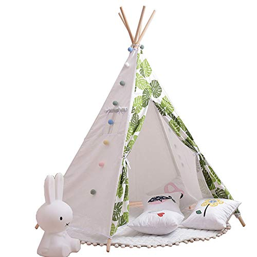 Sale!! Rnwen Children's Play Tent Kids Foldable Teepee Play Tent Durable Baby Toddler Tents for Baby...
