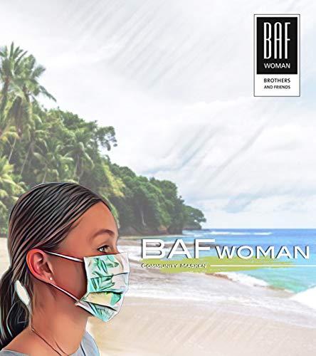 Community Masken 2er Pack Set Unisex Behelfsmaske Wendbar Mundschutz Maske Mund- und Nasenschutz Wendemaske mit Motiv Baumwolle BCI Waschbar - 8