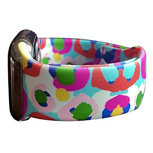 Correa de silicona suave con diseño teñido de corbata, para banda de reloj de Apple 40mm 44mm 38mm 42mm pulsera deportiva pulsera de pulsera doble con estampado de silicona impreso, para iWatch Series