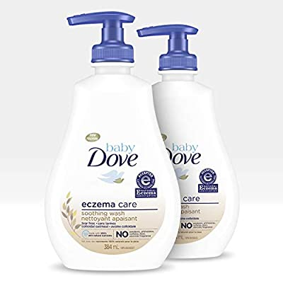 Baby Dove Soothing Baby Body Wash To Soothe Delicate Baby Skin Eczema Care No Artificial Perfume or Color, Paraben Free, Phthalate Free 13 oz 2 Count