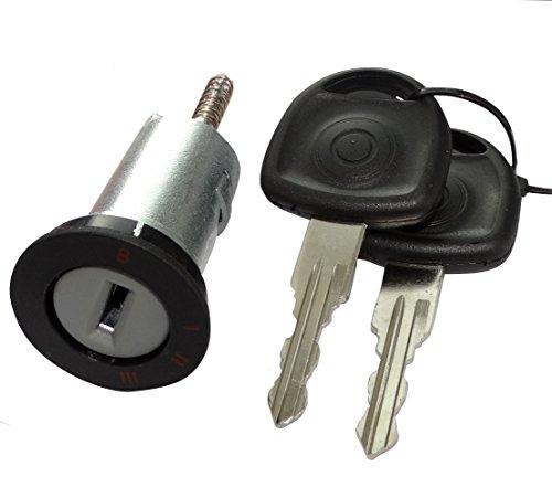 Aerzetix: Schließzylinder mit Zündschloss Lenkradschloss 2 Schlüssel C40216 kompatibel mit 93172805 90511999 0913694 913694 0913652 913652