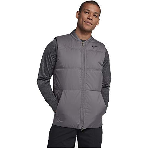NIKE Men's Synthetic-Fill Golf Vest,Gunsmoke/Atmosphere Gray/Black,Medium