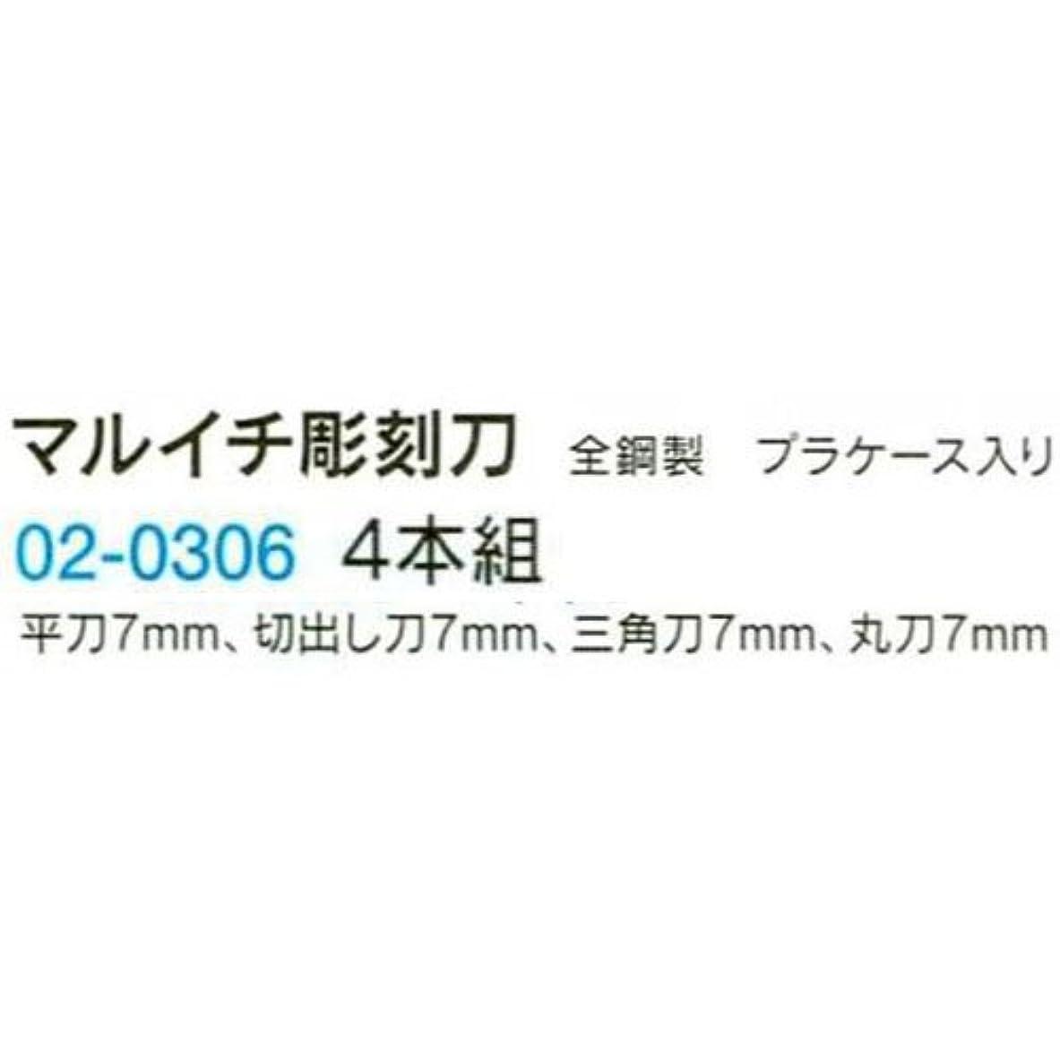 論理的けん引デイジーマルイチ彫刻刀(プラケース入り) R-4 B02-0306