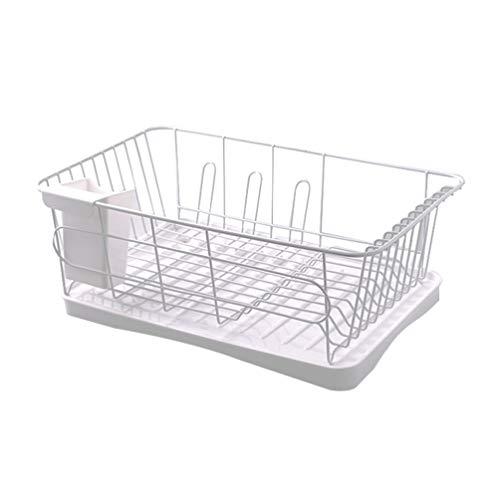 TOPBATHY Dish Drying Rack Kitchen Countertop Dish Drainer with Drainboard Utensil Tableware Storage Organizer for Home