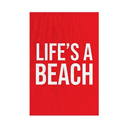L&S PRINTS Life's a Beach - Toalla de playa de microfibra, divertida, regalo rojo