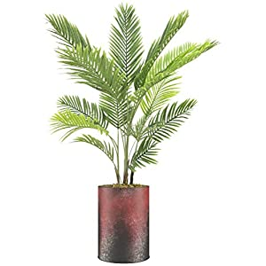 SIGNWIN Floor Plants Artificial Areca Palm Trees for Home, Fake Palm Plant with Vase – Large Size 68″ Overall